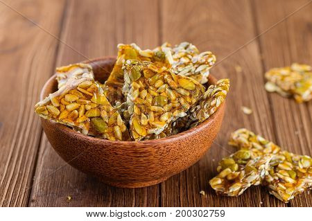Bowl Of Cut Homemade Kozinaki