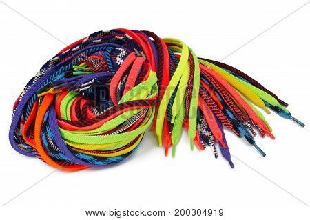 Laces multicolored bright fashion line accessory  footwear