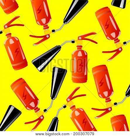 Instrument fire-extinguisher on white background is insulated