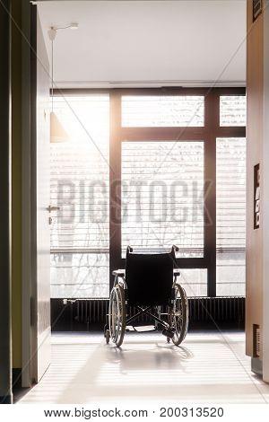 Wheelchair In An Hospital