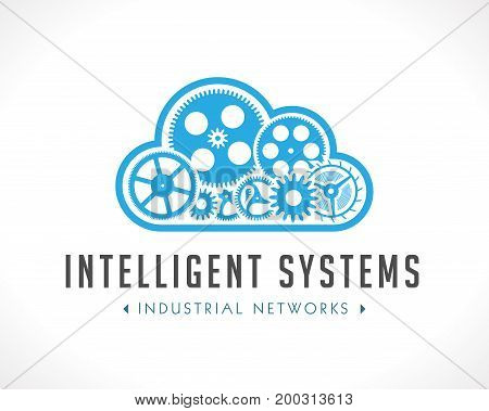 Logo - computing cloud concept - stock illustration