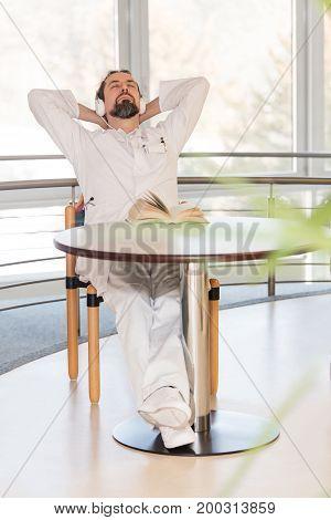 Male Doctor Is Having A Break