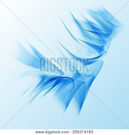 smooth blue abstract wave background flyer design. Blue smoke wave.