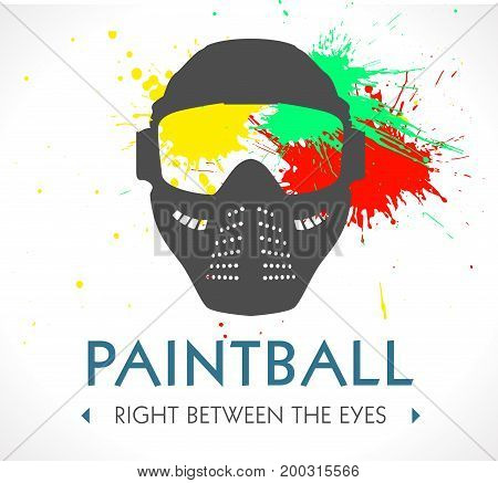 Paintball logo - mask concept - stock illustration