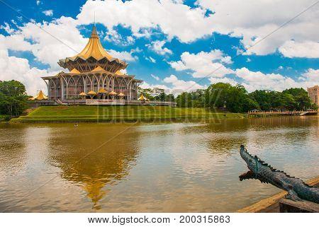 Dewan Undangan Negeri Sarawak. Sarawak State Legislative Assembly In Kuching, Sarawak, Malaysia. Mon