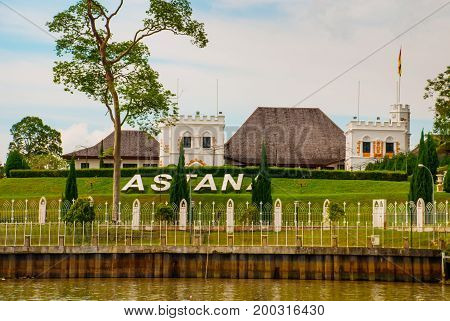 The Astana, Or Governor's Palace, Located In Kuching In The Province Of Sarawak, The Island Of Borne
