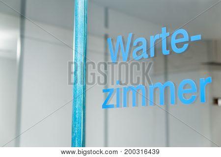 German Word Wartezimmer