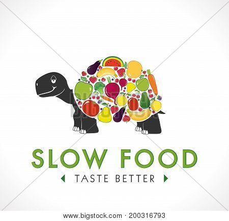 Logo - Slow food - vector stock illustration