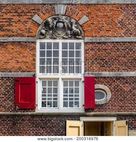 ALKMAAR THE NETHERLANDS - AUGUST 25 2013: Architecture detail in Alkmaar the Netherlands