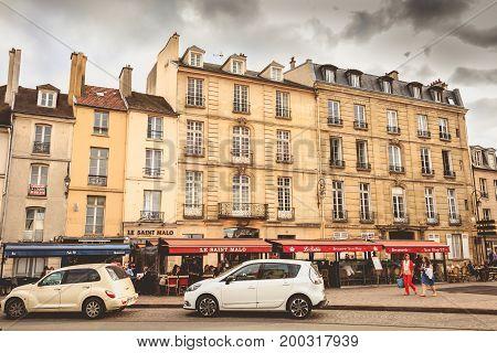 Atmosphere On Place Charles De Gaulle In Saint Germain En Lay
