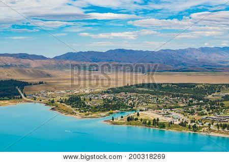 Lake Tekapo View From Mount John