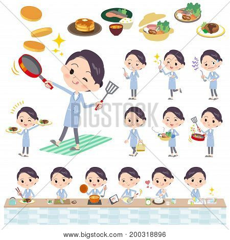 White Coat Women_cooking
