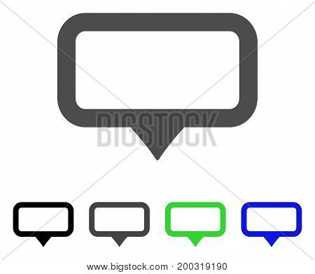 Banner Map Marker flat vector pictogram. Colored banner map marker, gray, black, blue, green pictogram variants. Flat icon style for web design.