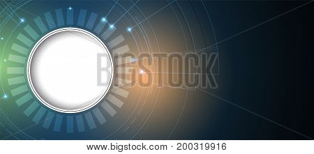 Digital Technology World. Business Virtual Concept. Vector Background