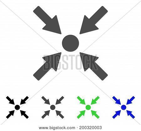 Ethereum Map Marker flat vector illustration. Colored ethereum map marker, gray, black, blue, green pictogram variants. Flat icon style for graphic design.
