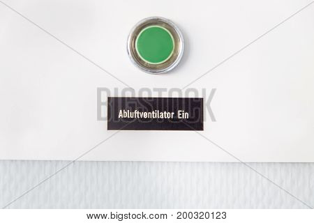 Green Button With German Words