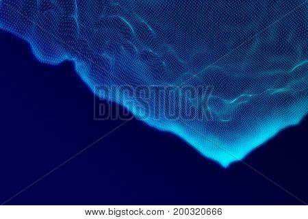 Blue Polygonal Landscape Texture