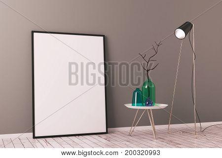 Creative Scandinavian Interior With Poster