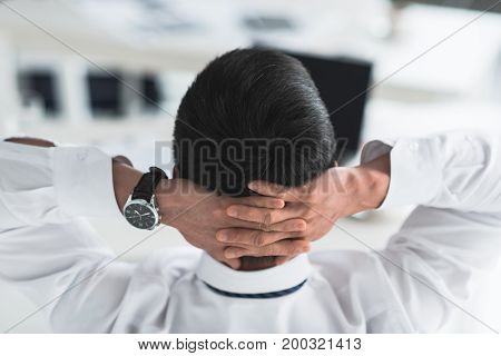 Businessman Resting At Workplace