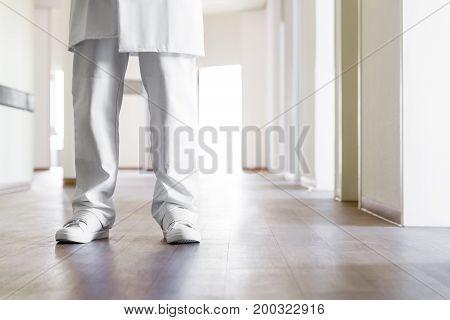 Doctor Is Standing In A Floor