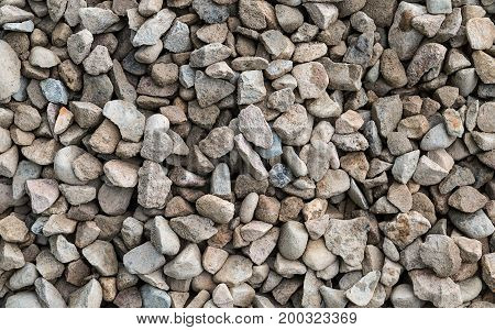 white gravel gray stone background texture natural closeup