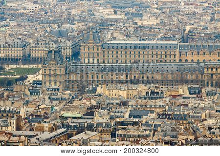 Palace Louvre, View From Montparnasse Tower