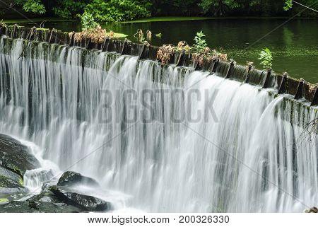 Water entering Blackstone Gorge in soft silky streams