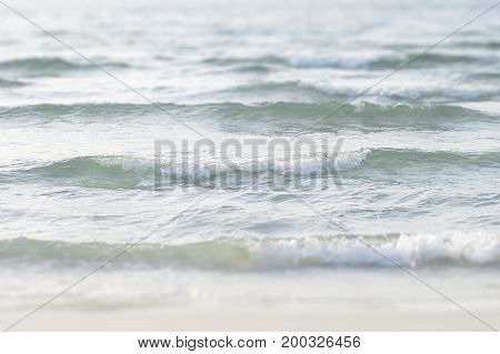 Background with sea waves. Clear water. Vacation and travel concept. Seaside without people