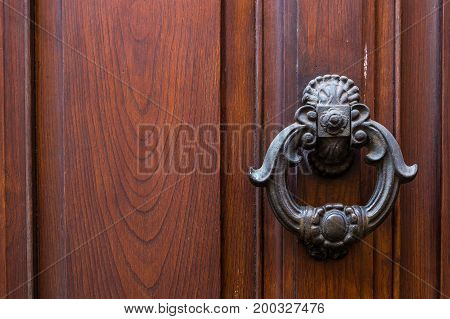 Italy: Close Up Of Rustic Old Door