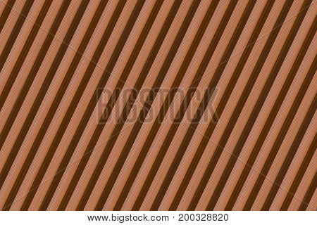 Abstract background of inclined lines of color of a natural tree symmetrical repeating pattern
