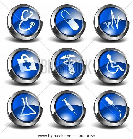 3D Health and Medical Icons Set 01