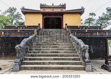 Tomb of Emperor Minh Mang(UNESCO World Heritage). a famous Historical site in Hue Vietnam.