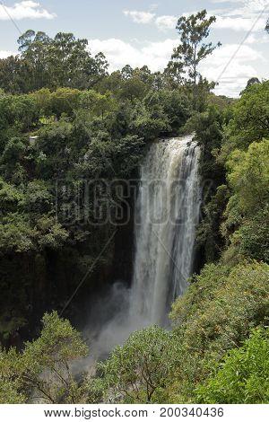 The Thomsen waterfalls of Kenya in Africa