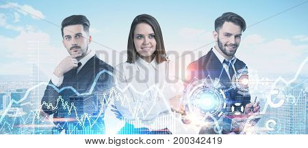 Business Partners Portrait In A City, Graphs