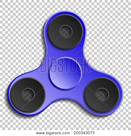 Hand spinner vector isolated on transparent background