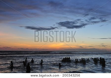 People Celebration Beach Party Summer Holiday Vacation Concept.
