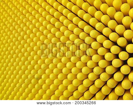 Abstract Dots Background In Yellow Colors.