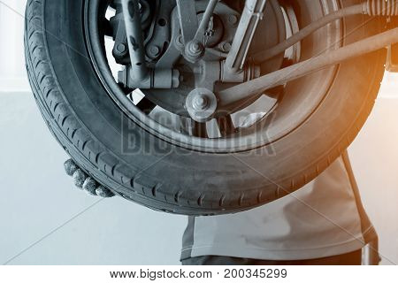 Changing Tyre Of Car