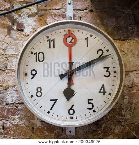 Round Vintage Wall Clock - Old Clock On Wall