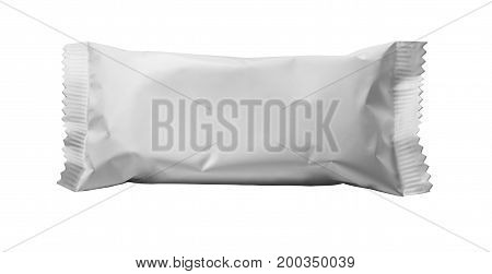 pure white blank plastic packaging for snacks