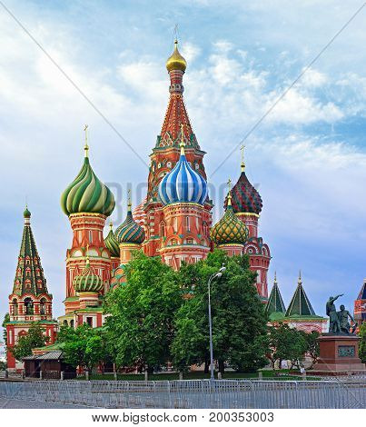 Saint Basil's Cathedral In Red Square In Summer, Moscow, Russia