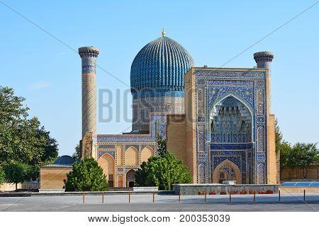 Gur Emir Mausoleum Of Tamerlane Or Amir Timur In Samarkand, Uzbekistan