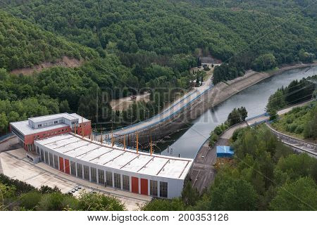 Dalesice Hydro Power Plant On The Jihlava River