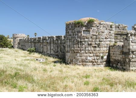 Inner fortress in the fortress of the knights of the Johannites on the island of Kos. Greece
