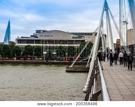 Jubilee Bridge In London (hdr)