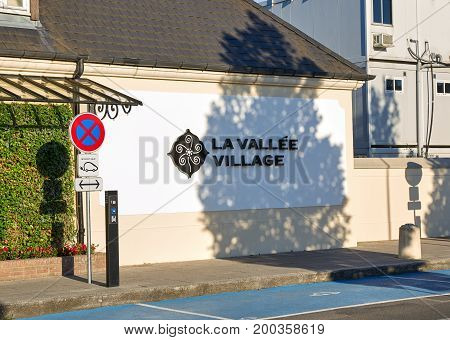MONTREAL CANADA - JULY 30 2017 : La Vallee Village. La Vallee Village is one of the Collection of nine Chic Outlet Shopping Villages by Value Retail.