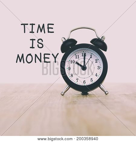 Inspirational And Motivational Quotes - Time Is Money. Retro Style Background.