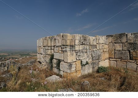Wall Of Hierapolis Ancient City, Turkey