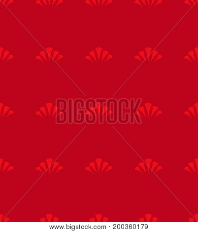 Japanese circle on vector seamless red pattern