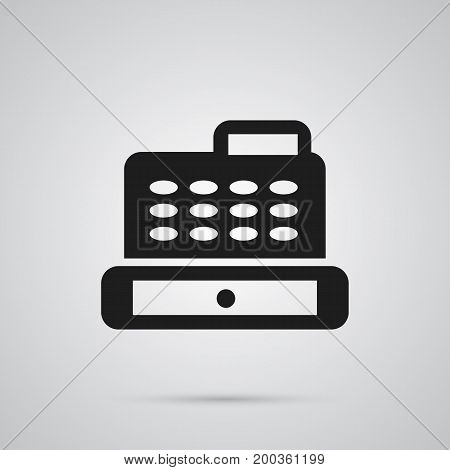 Isolated Cash Register Icon Symbol On Clean Background